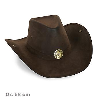 Lue Sheriff metall star cowboyhatt semsket utseende