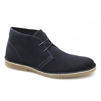 Selected Homme Sel Shleon H Mens Suede Desert Boots Navy Blazer