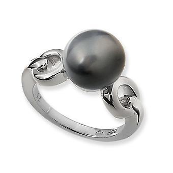 Orphelia Silver 925 Ring donken Grijze Parel ZR-3504