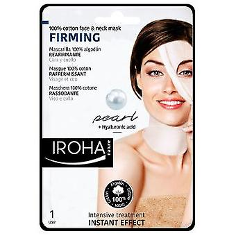 Iroha Nature Mask of Cotton for Face and Neck Pearl-Firming