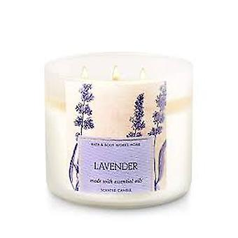 Bath & Body Works Lavender Made With Essential Oils Scented Candle 14.5 oz / 411 g
