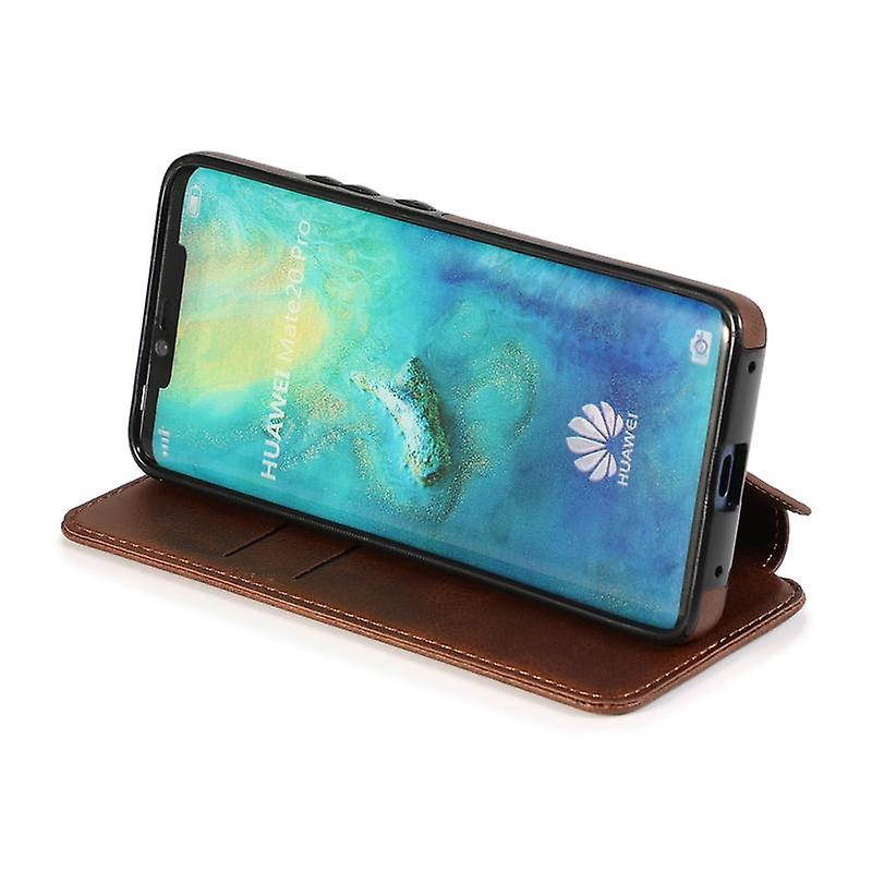 CaseGate phone case case cover for Huawei Mate 20 Pro case cover - magnetic clasp, stand function and card compartment