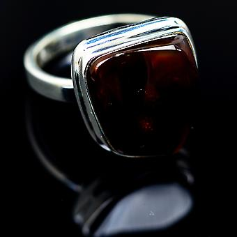 Ammolite Ring Size 7 (925 Sterling Silver)  - Handmade Boho Vintage Jewelry RING987068