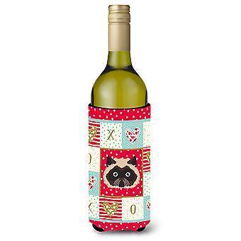 Colorpoint Persian Hymalayan Cat Wine Bottle Beverage Insulator Hugger