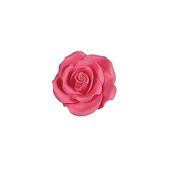 SugarSoft Edible Flower - Rose Bright Pink 38mm - Box Of 20