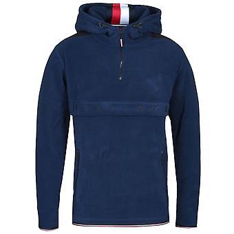 Tommy Hilfiger Navy Polar Fleece Anorak Sweatshirt