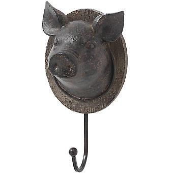Hill Interiors Pig Head Coat Hook