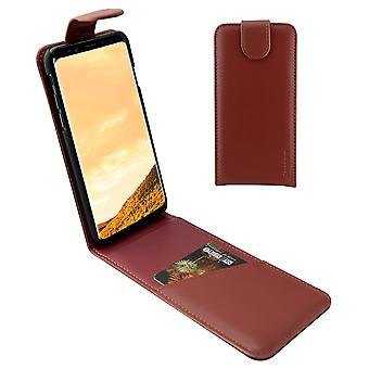 For Samsung Galaxy S8 PLUS Case,iCoverLover Flip Genuine Leather Cover,Russet