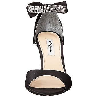Nina Womens Vinnie Satin Open Toe Ankle Strap klassische Pumps