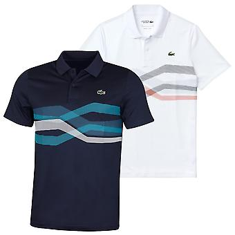 Lacoste Mens DH4761 Super Dry Stretch Ribbed Crocodile Polo Shirt