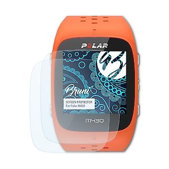 Bruni 2x Protecteur d'écran compatible avec Polar M430 Écran protecteur