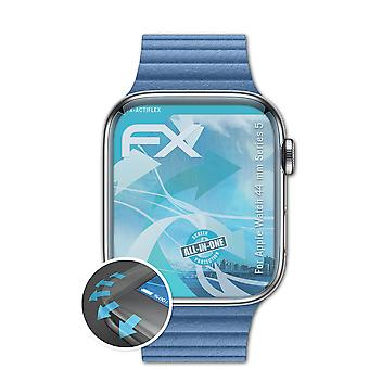 atFoliX 3x Protective Film compatibil cu Apple Watch 44 mm Series 5 clar&flexibil