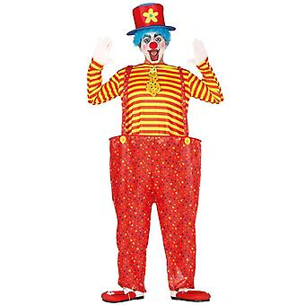 Mens Circus Clown Fancy Dress Kostuum