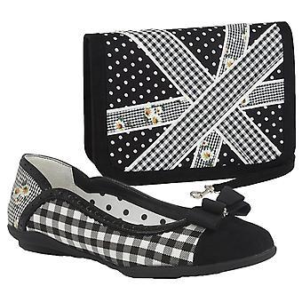 Ruby Shoo Women's Lizzie Ballerina Pumpar & Matchande Windsor Bag