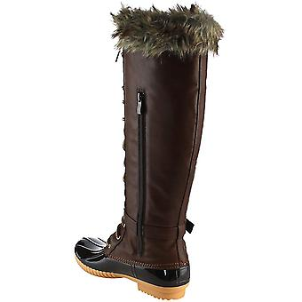 Nature Breeze Duck-15 Women's Knee High Lace Up Insulated Boots Half Size Small