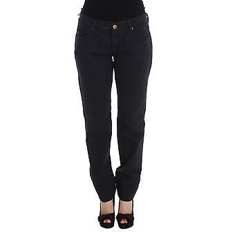 Ermanno Scervino Blue Cotton Blend Casual Fit Pants