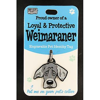 Wags & Whiskers Pet Identity Tag - Weimaraner