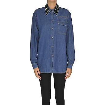 N°21 Ezgl068134 Women's Blue Cotton Shirt