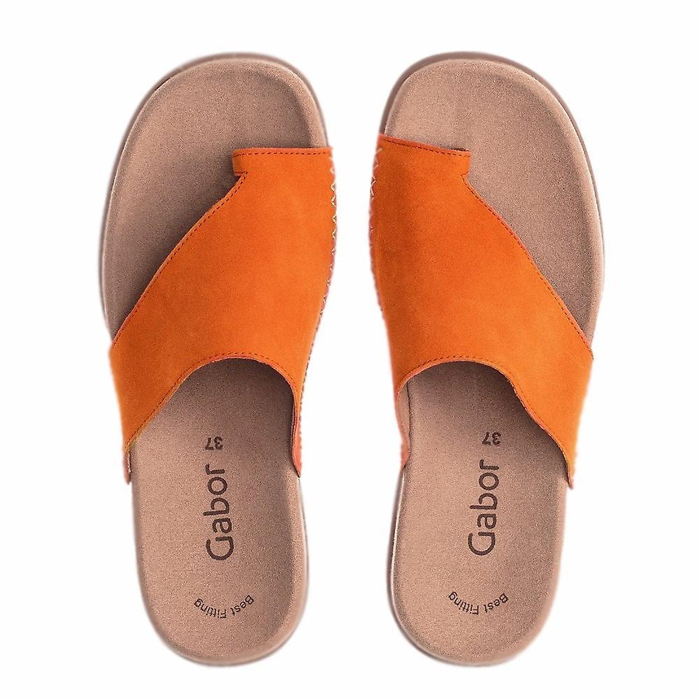 Gabor Lanzarote Comfortable Sandal Mules In Orange UYkjy