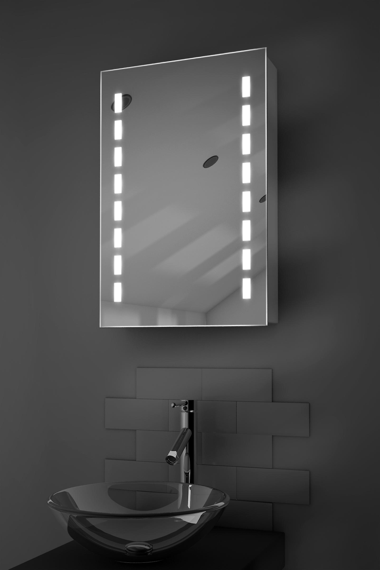 Delphia LED Audio Bathroom Cabinet With Sensor, Shaver Socket k349aud