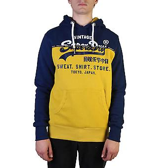 Superdry Original Herren Herbst/Winter Sweatshirt - blaue Farbe 37608