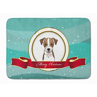 Jack Russell Terrier Merry Christmas Machine Washable Memory Foam Mat