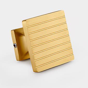 Brass Handles - Gold - Stripe - Square
