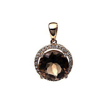 Diamant-Edelsteinanhänger Anhänger - 18K 750/- Rotgold - 0.14 ct. - 3.58 ct.