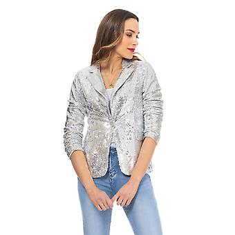 Sequin jacket with pockets