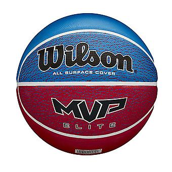 Wilson MVP Elite All Surface Cover Basketball Ball Blue/Red