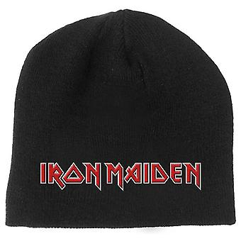 Iron Maiden Beanie Hat classic Band Logo Book of Souls new Official Black