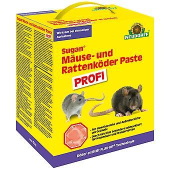 NEUDORFF Sugan® Mäuse- und Rattenköder Paste PROFI, 3 kg