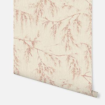 698208 - Willow Tree Neutral & Rust - Arthouse Wallpaper