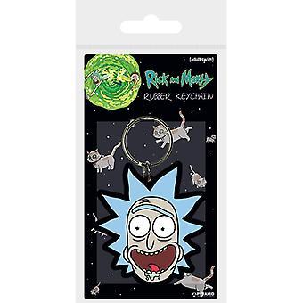 Rick og Morty Rick Crazy Smil Gummi Nøglering