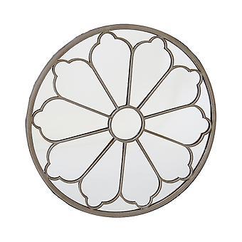 Charles Bentley Ronde Outdoor Flower Mirror Decoratieve Crème Beige Zand Shabby Chic Iron H92 x D11cm