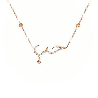 Necklace Arabic Love Premium 18K Gold and Diamonds