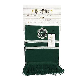 Harry Potter Hogwarts Slytherin House Crest Knitted Scarf