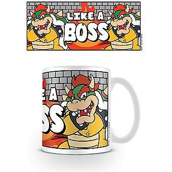 Super Mario wie ein Boss Bowser Becher