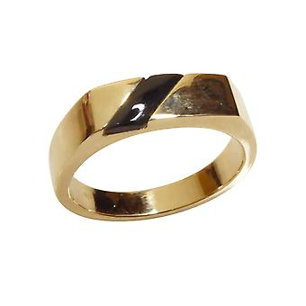 Gold onyx seal ring