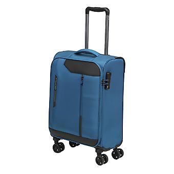 Marzo15 Stardust Mano Bagaglio Trolley S, 4 Ruote, 55 cm, 37 L, Blu