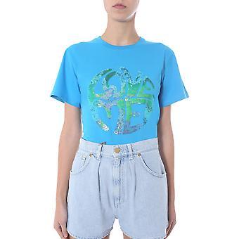 Alberta Ferretti 070316721317 Damen's hellblaue Baumwolle T-shirt