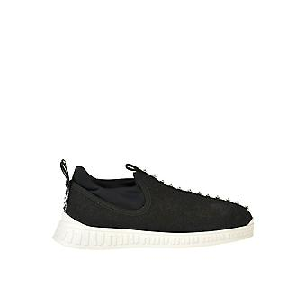 Miu Miu Ezgl014005 Mujer's Zapatillas de tela negra Slip On