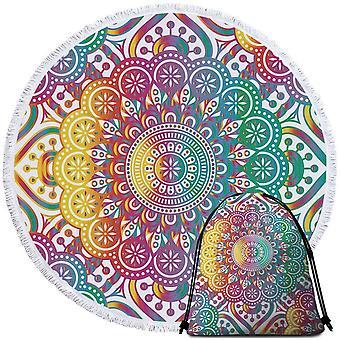 Blast of Colors Mandala Beach Towel