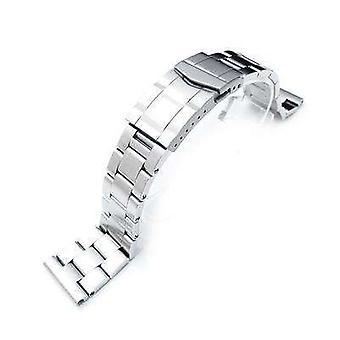 Strapcode klokke armbånd 22mm super østers watch band universell rett ende versjon, solid submariner lås