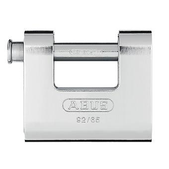 ABUS 92/65mm Monoblock Messing Body Shutter Hanglock gekaard ABU9265C