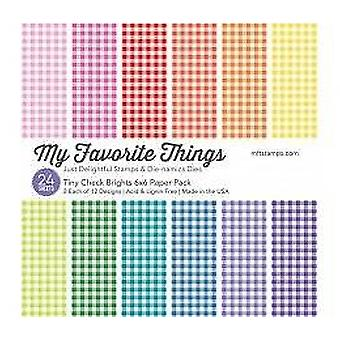 Min favorit Ting Tiny Check 6x6 Tommer Paper Pack