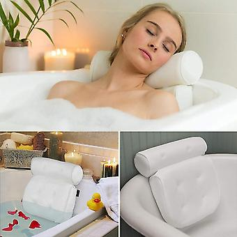 3d Soft Spa Bath Mesh Bathroom Pillow With Suction Cup - Deep Spongy Relaxing Massage Cushion