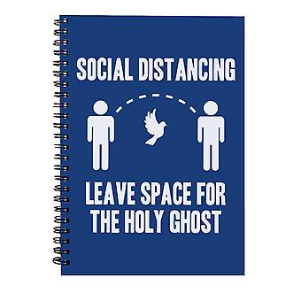 Sociale distantiëren Leave Space For The Holy Ghost Spiral Notebook
