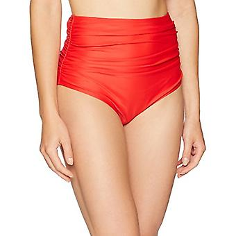 Brand - Coastal Blue Women's Swimwear High Waist Bikini Bottom, Ladybug, S