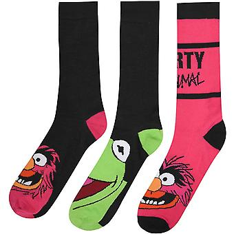 Disney Muppets 3 Pack Calcetines para Hombres